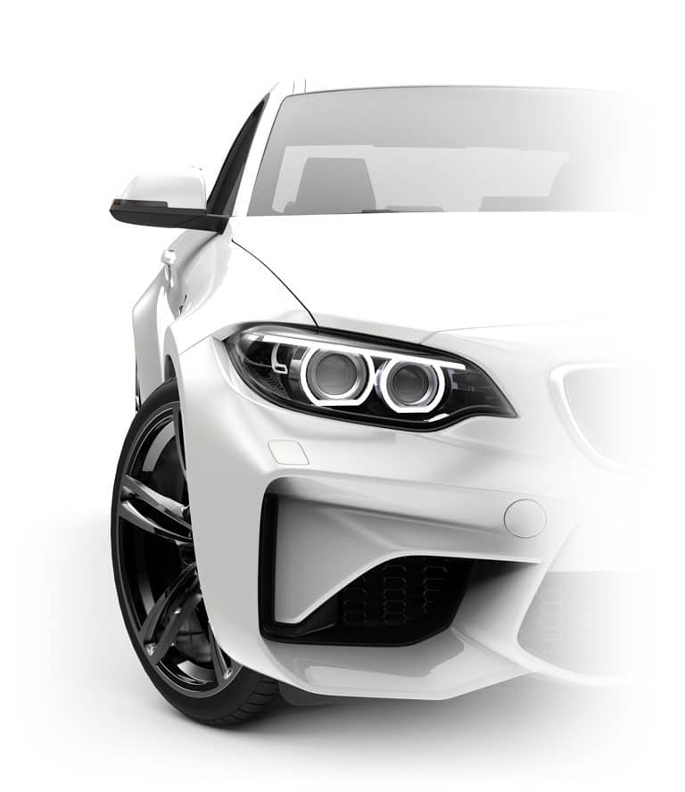 automóvel branco frente